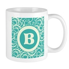 Blue Personalized Monogram Initial Mugs