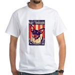 Obey the Rat Terrier! USA White T-Shirt