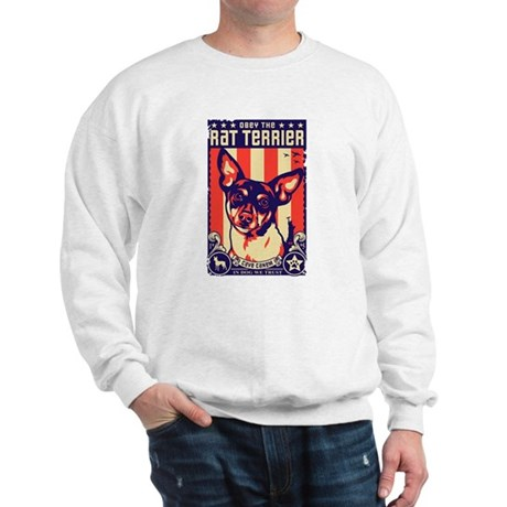 Obey the Rat Terrier! USA Sweatshirt