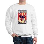 Obey the Rat Terrier! USA Sweatshirt