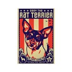 Obey the Rat Terrier! - USA Magnet