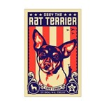 Obey the Rat Terrier! USA Mini Poster Print