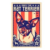 Obey the Rat Terrier! Dog Postcards (Package of 8)