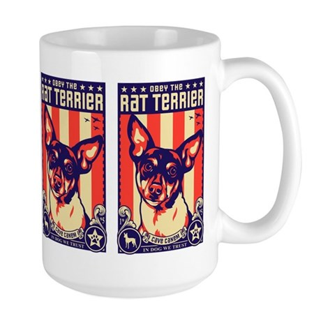 Obey the Rat Terrier! USA Large Mug