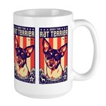 Obey the Rat Terrier! USA Large Mug