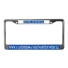 Blue & white License Plate Frame