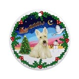 Holly & Wheaten Scotty Ornament (Round)