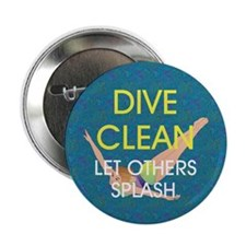 "TOP Dive Clean 2.25"" Button"