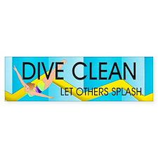 TOP Dive Clean Bumper Sticker