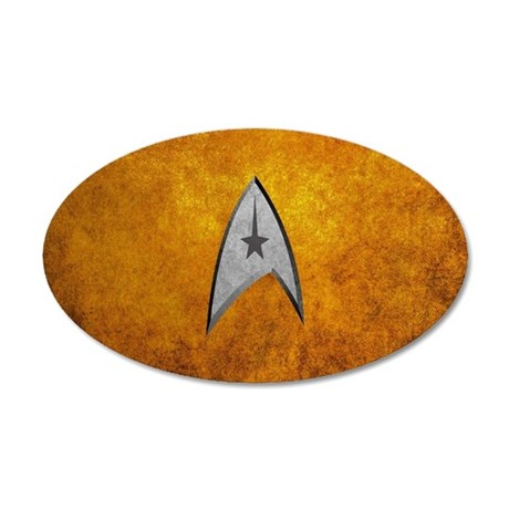 STARTREK TOS CMD STONE 20x12 Oval Wall Decal