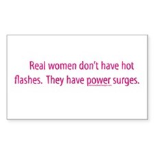 Real women don't have hot fla Sticker (Rectangular
