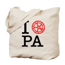 I Bike PA Tote Bag