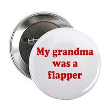 Flapper Grandma Button