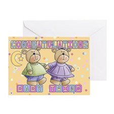 Baby Twins Congratulations Card Greeting Cards