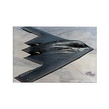 B2 Stealth Bomber In Flight Rectangle Magnet (10 p