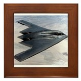 B2 Stealth Bomber In Flight Framed Tile