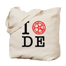 I Bike DE Tote Bag
