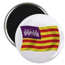 "Balearic Islands Flag 2.25"" Magnet (100 pack)"