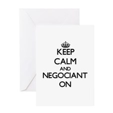 Keep Calm and Negociant ON Greeting Cards