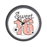 Sweet Sixteen 16th Birthday Wall Clock