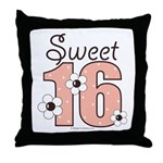 Sweet Sixteen 16th Birthday Throw Pillow