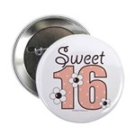 Sweet Sixteen 16th Birthday Button (10 pack)
