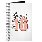 Sweet Sixteen 16th Birthday Pink Brown Journal