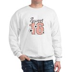 Sweet Sixteen 16th Birthday Pink BrownSweatshirt