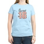 Sweet Sixteen 16th Birthday Pink Brown T-Shirt