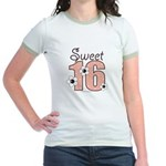 Sweet Sixteen 16th Birthday Pink Ringer T-Shirt