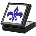 Masonic Fleur De Lis - Blue Keepsake Box