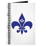 Masonic Fleur De Lis - Blue Journal