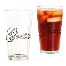 Gold Greta Drinking Glass