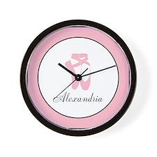Team Pointe Pink Monogram Wall Clock