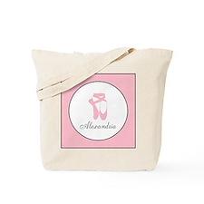 Team Pointe Pink Monogram Tote Bag