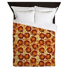 Pepperoni Pizza Queen Duvet
