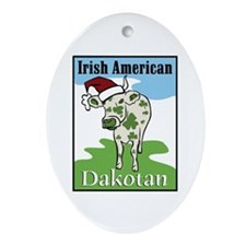 Irish Cow Oval Ornament