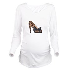 LEOPARD PRINT SHOE Long Sleeve Maternity T-Shirt