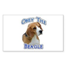 Obey Beagle Rectangle Decal