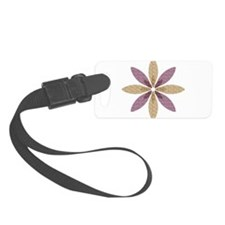 Sparkle Effect Floral Art Luggage Tag