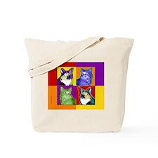 Cool Cat Art Tote Bag
