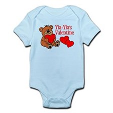 Yia-Yia's Valentine Cartoon Bear Body Suit