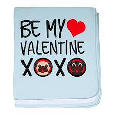 Be My Valentine XOXO baby blanket