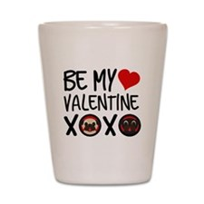 Be My Valentine XOXO Shot Glass