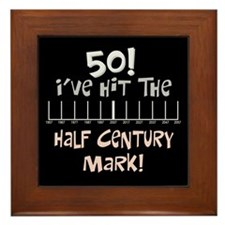 50th birthday graph Framed Tile