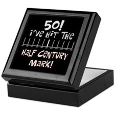 50th birthday graph Keepsake Box