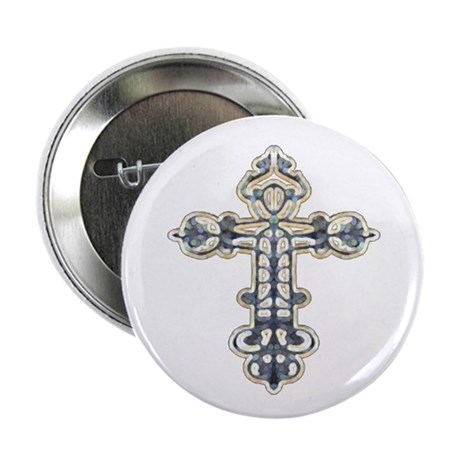 Ornate Cross Button