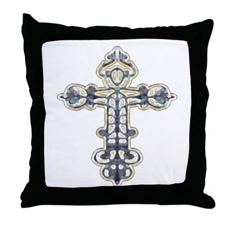 Ornate Cross Throw Pillow