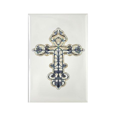 Ornate Cross Rectangle Magnet (100 pack)