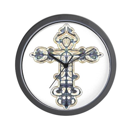 Ornate Cross Wall Clock